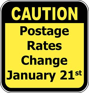 January 21, 2018 USPS Postal Rate Changes